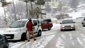 Sertavul Geçidinda kar yağışı ulaşımı etkiliyor