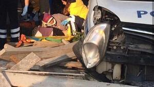 İzmir'de kaza: 1 ölü, 1'i polis 2 yaralı