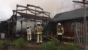 Son dakika Ataşehirde korkutan yangın