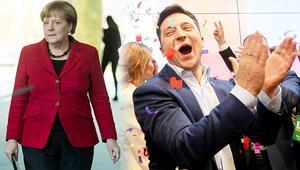 Merkel'den Zelenskiy'e tebrik telefonu