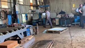 Maltepede demir doğrama makinesi altında kalan işçi ağır yaralandı