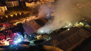 Kartepe Belediyesinin deposu alev alev yandı