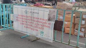 Tekirdağda hileli satış yapan pazarcının tezgahı kapatıldı