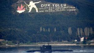 Rus Denizaltısı Stary Oskol, Çanakkale Boğazından geçti