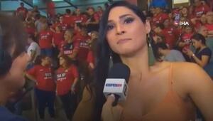 Olimpiyat şampiyonu röportaj sırasında bayıldı