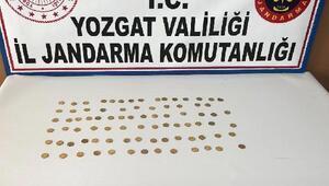 Yozgatta Osmanlı dönemine ait 83 sikke ele geçirildi