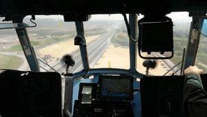 Jandarma Kuzey Marmara Otoyolunda havadan denetim yaptı