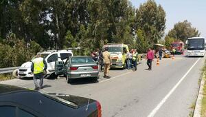 Sökede zincirleme kaza: 4 yaralı