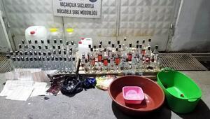Evde kaçak içki üreten şüphelilere operasyon: 3 gözaltı