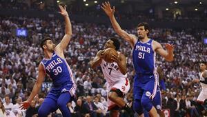 Furkanlı 76ers mağlup, Raptors 1-0 öne geçti