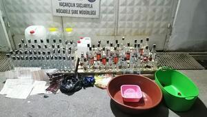 Evde sahte içki üretenlere polis darbesi