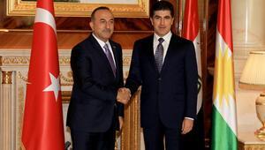 Bakan Çavuşoğlu, IKBY Başbakanı Neçirvan Barzani ile görüştü