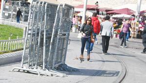 Taksim'e bariyerli önlem