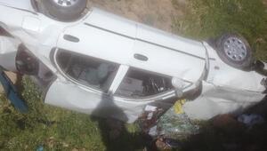 Malatyada otomobil şarampole devrildi: 1 ölü, 1 yaralı
