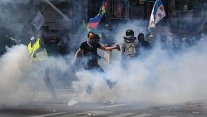 Son dakika... Fransada olaylı 1 Mayıs gösterileri