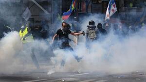 Fransada olaylı 1 Mayıs gösterileri