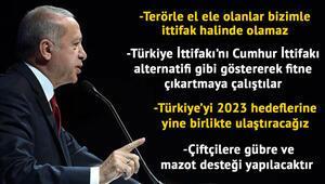 Cumhurbaşkanı Erdoğan'dan çarpıcı mesajlar