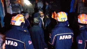 Göçük korkuttu, mahsur kalan 9 kişi kurtarıldı