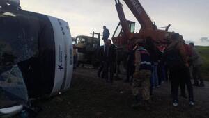 Tokatta cenazeden dönenleri taşıyan otobüs devrildi: 7 ölü