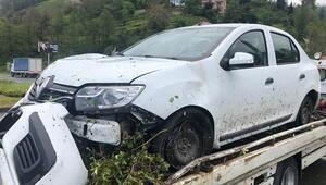 MHP MYK üyeleri Rizede kaza yaptı: 3 yaralı