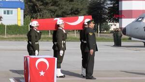 Azez şehidi Yüzbaşı Özdemir için uğurlama töreni