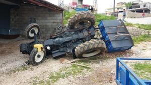 Besnide trakör devrildi: 2 yaralı