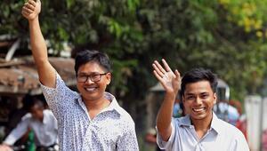 Myanmarda tutuklu bulunan Reuters muhabirleri serbest kaldı