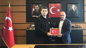 Albay Gemalmaz'dan Oral'a ziyaret