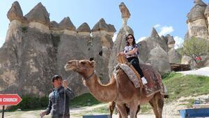 Kapadokya'da turist sayısı artmaya devam ediyor