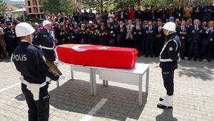 Şehit polis için Bayburtta hazin tören