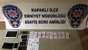 Kapaklı ve Çerkezköydeki hırsızlıkların 2 şüphelisi yakalandı