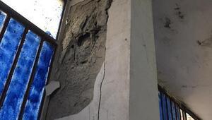 Esenlerde çatlaklar oluşan bina boşaltıldı