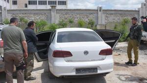 Azezde Türk polisi araçları kayıt altına aldı, çalıntıları buldu