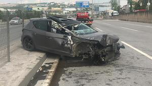 Kocaelide feci kaza Otomobilin tekerleği fırladı...