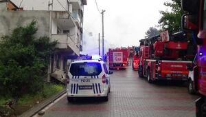 Tuzlada kullanılmayan binada yangın