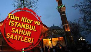 İstanbulda sahur saat kaçta yapılacak İl il sahur ve iftar vakitleri