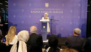 Emine Erdoğan, Çamlıca Camisinde sergi açılışını yaptı