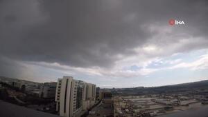 Yağmur bulutlarının gelişi ilginç manzaralar oluşturdu