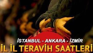 Teravih namazı saat kaçta kılınacak İstanbul Ankara İzmir il il teravih saatleri