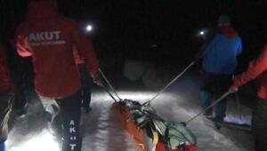Kaçkarlarda düşen dağcı, 12 saat sonra hastaneye ulaştırıldı