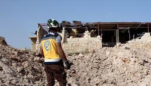 İdlibde Beyaz Baretlilere hava saldırısı