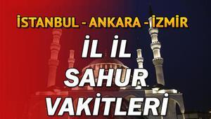 Bu gece sahura saat kaçta kalkılacak Diyanet İstanbul Ankara İzmir il il sahur saatleri