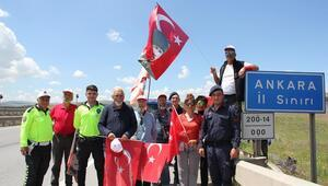 'Kurtuluştan Kuruluşa' 450 km