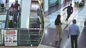 Yürüyen merdivende etek altı fotoğraf skandalı