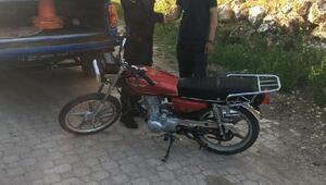 Hüyükte çalınan motosiklet jandarma tarafından Beyşehirde bulundu