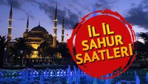 Ankara, İstanbul ve İzmirde sahur saat kaçta yapılacak İl il sahur saatleri