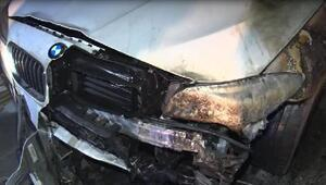Ankarada lüks araç kundaklandı