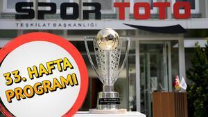 Bu hafta hangi maçlar var Süper Lig 33. hafta maç programı