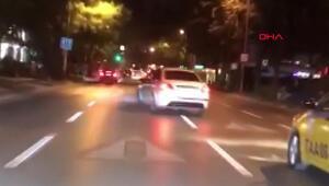 Bağdat Caddesinde trafik magandası kamerada