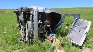 Silvanda çilek yüklü araç takla attı: 4 yaralı